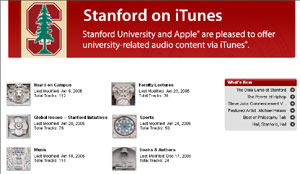Stanford on iTunes