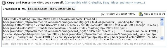 Copy and paste your code to Craigslist...