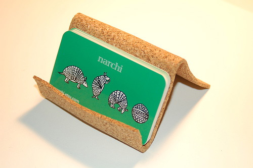 the cork business card display - Business Card Display