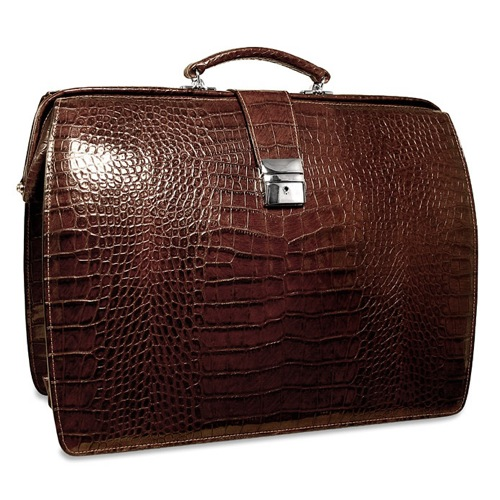 The Croco Collection Classic Briefbag by Jack Georges