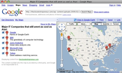 Open a KML File Using Google Maps
